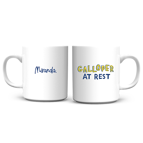 Galloper at Rest Mug
