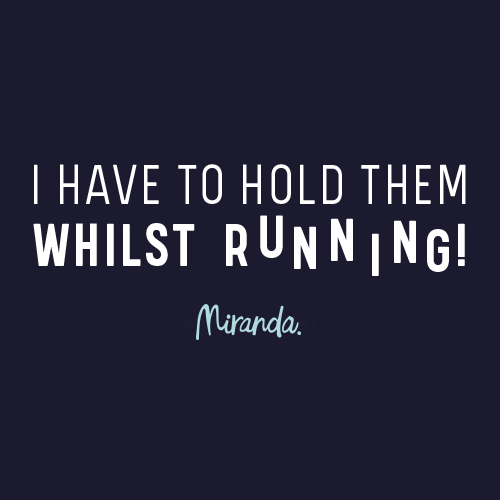 Hold Them Whilst Running! Ladies T-Shirt