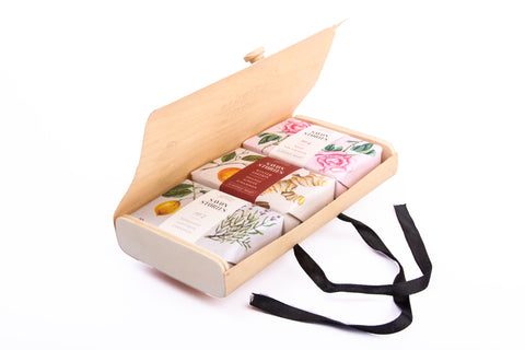 Wood Box Soap Set