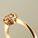 Cluster Ring in champagne diamonds and 14K rose gold