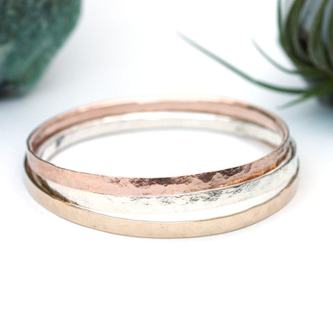 Hammered Bangle - Medium