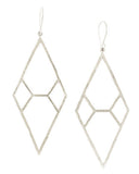 Hammered Diamond Earrings - Large