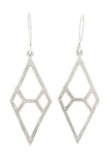 Hammered Diamond Earrings - Medium