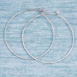 Circle Hammered Hoops