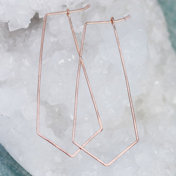 Dagger Hammered Hoops