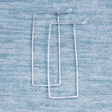Rectangle Hammered Hoops