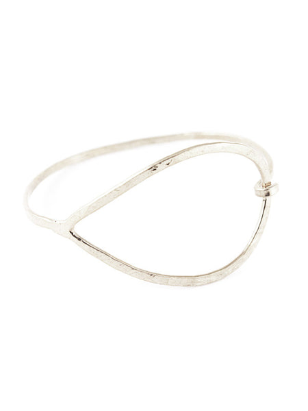 Hammered Raindrop Hook Bangle