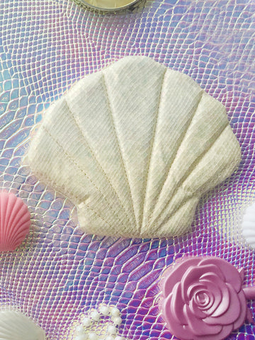 Shell Clutch- Iridescent White (Final Sale)