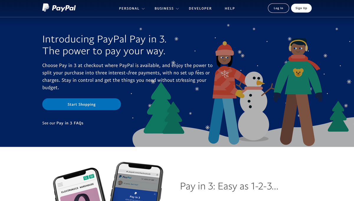Pay in 3 | Buy Now, Pay Later with PayPal UK