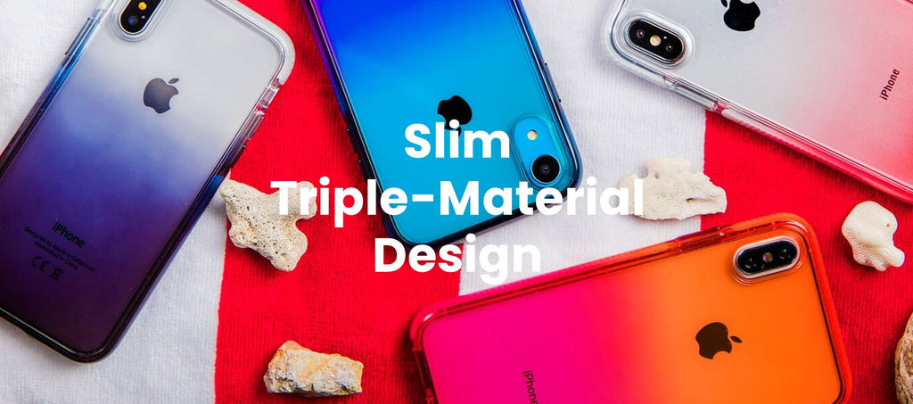Slim Triple Material Design - Phone Case
