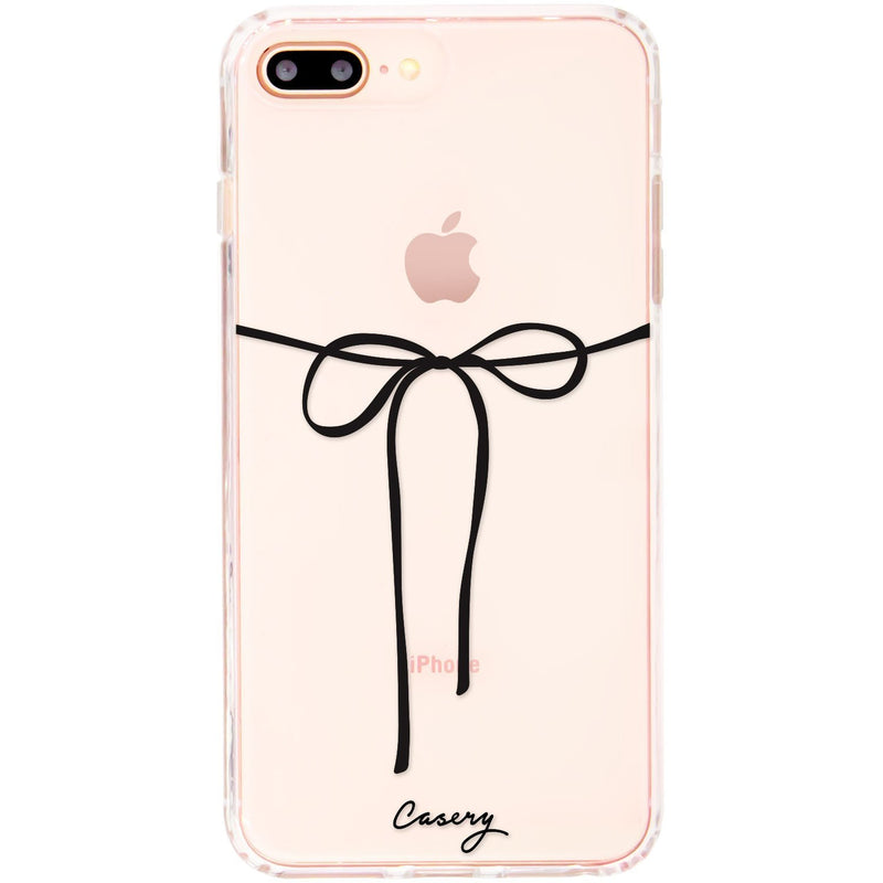 Casery Black Bow iPhone 8 Plus Case