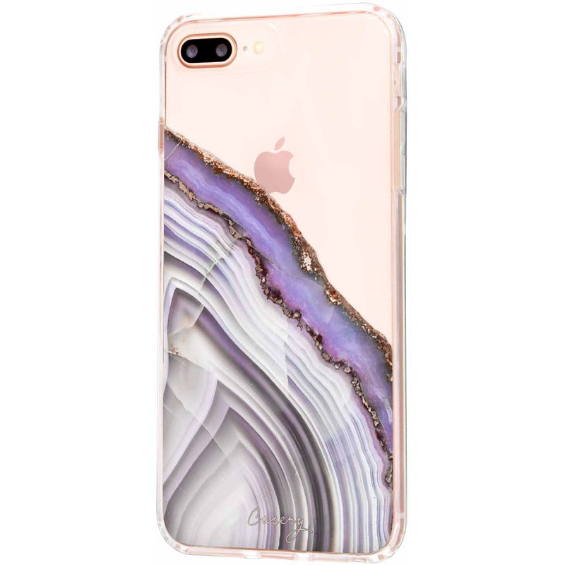 Casery Light Purple Agate iPhone 8 Plus Case