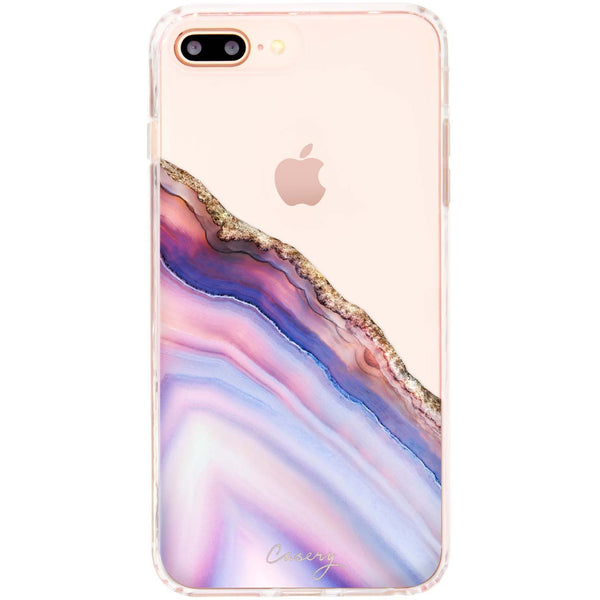 Casery Pink & Blue Agate iPhone 8 Plus Case