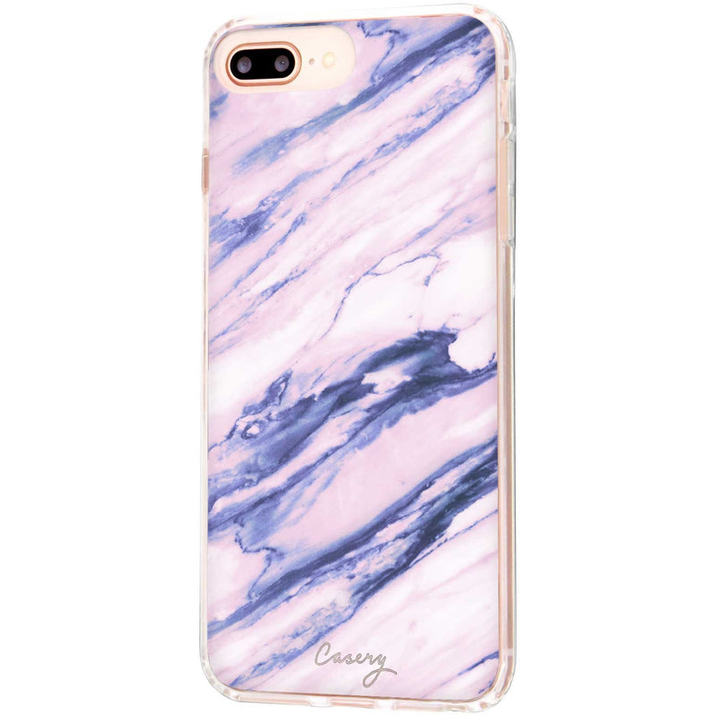 Casery Purple Marble iPhone 8 Plus Case