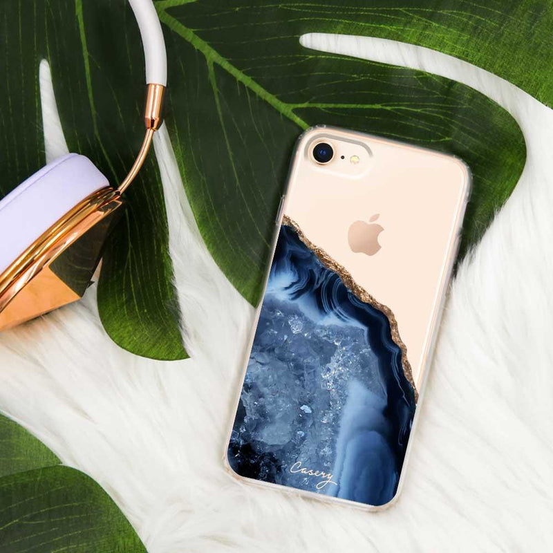 Casery Dark Blue Agate iPhone 8 Plus Case
