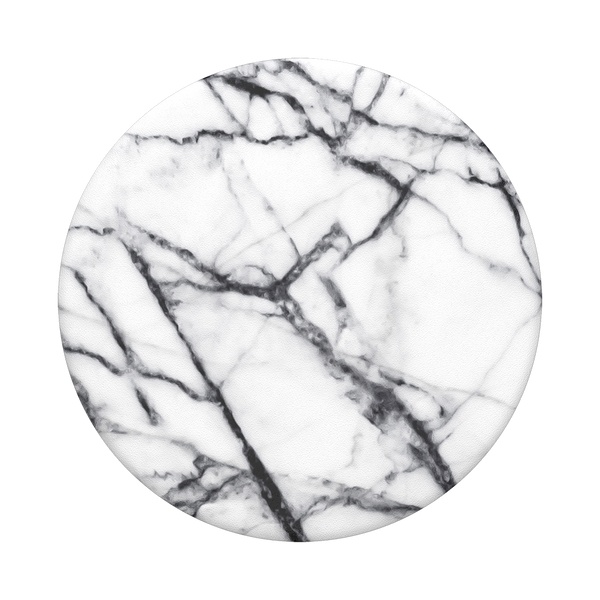 Dove White Marble Swappable PopSocket