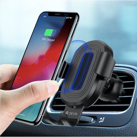 Devia Gravity Sensor Air Vent Wireless Car Charger