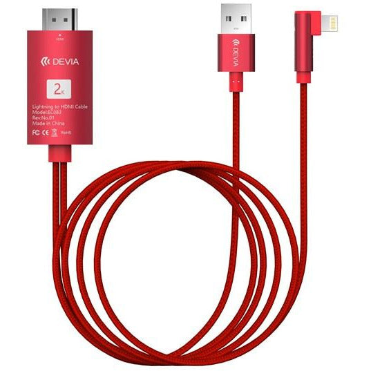 Devia HDMI to USB Lightning Cable 2m