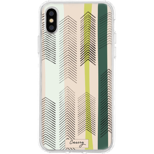 Casery Green Arrows iPhone XS Case