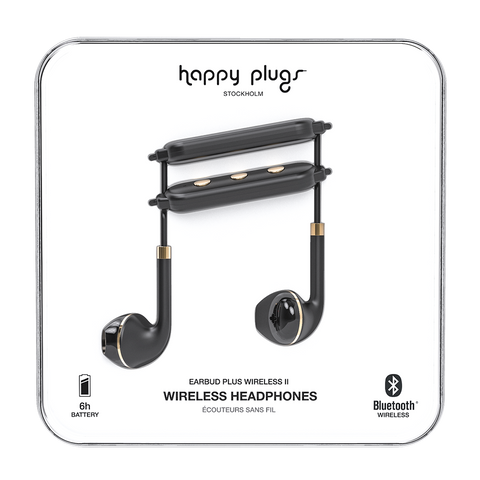 Happy Plugs Wireless II Black & Gold