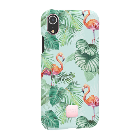 Happy Plugs iPhone XR Case Pink Flamingos