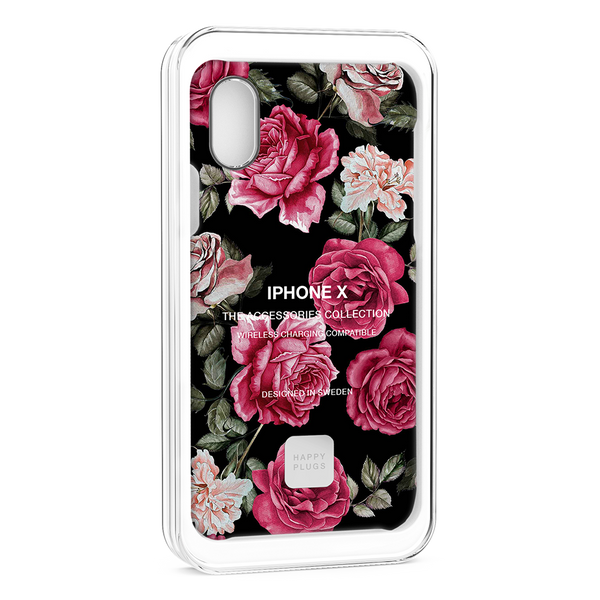 Happy Plugs iPhone XS Case Vintage Roses