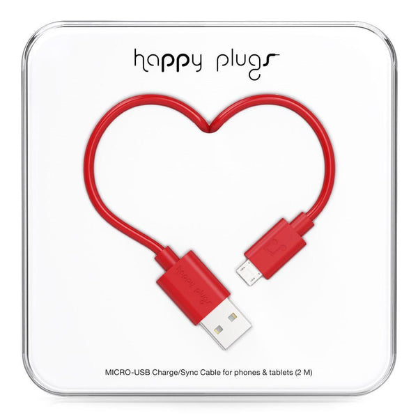 Happy Plugs 2m MFi Lightning Cable Red