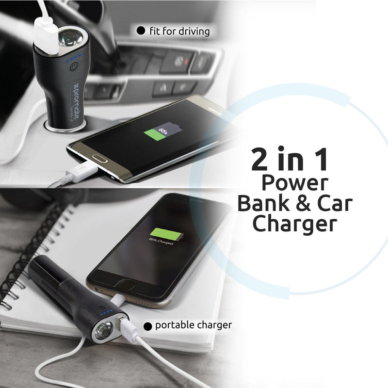 Promate Power Bank Emergency Car Charger
