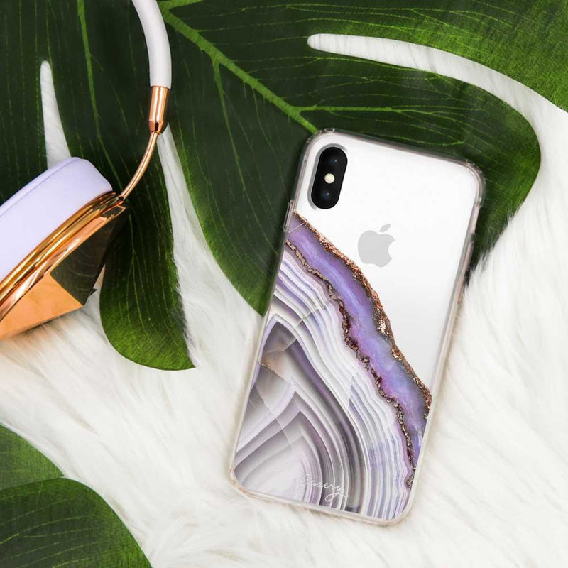 Casery Light Purple Agate iPhone XS Case