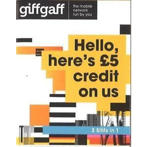 GiffGaff 4G 3-in-1 Sim Card