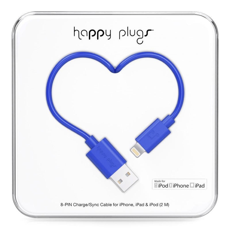 Happy Plugs 2m MFi Lightning Cable Blue