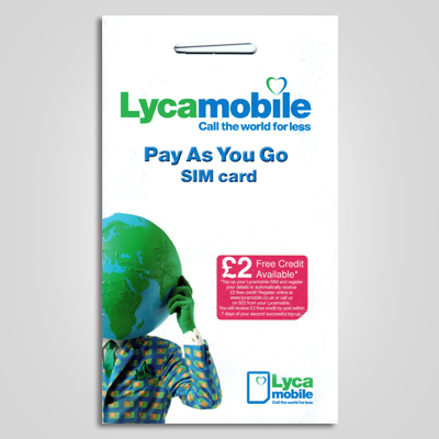 Lyca Mobile Pay As You Go Sim Card