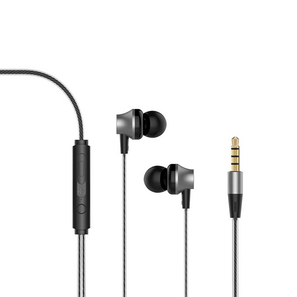 Devia 3.5mm Metal Earphones with Remote & Mic