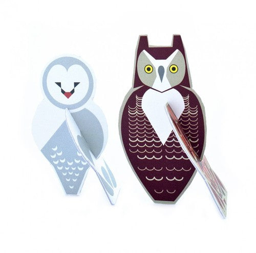 pop out card - owls