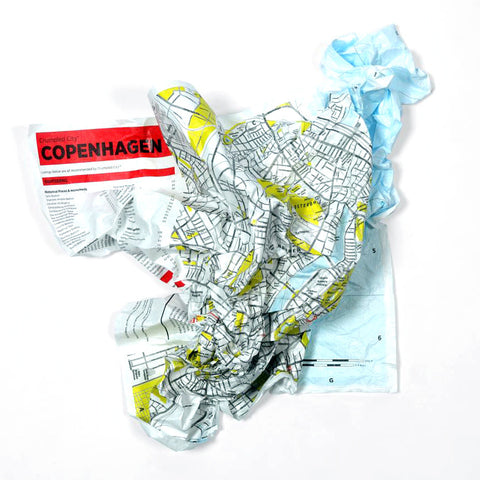 crumbled Copenhagen map