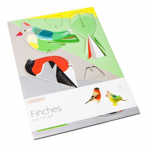 pop out card - finches