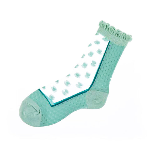 日本製波點透視襪子 Japan Polka Dot See-through Socks