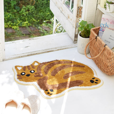 回眸貓咪地毯 Looking Back Cat Floor Mat