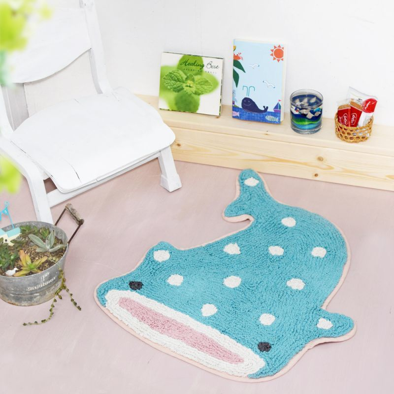 可愛鯨鯊造型地毯*Lovely Whale Shark Floor Mat