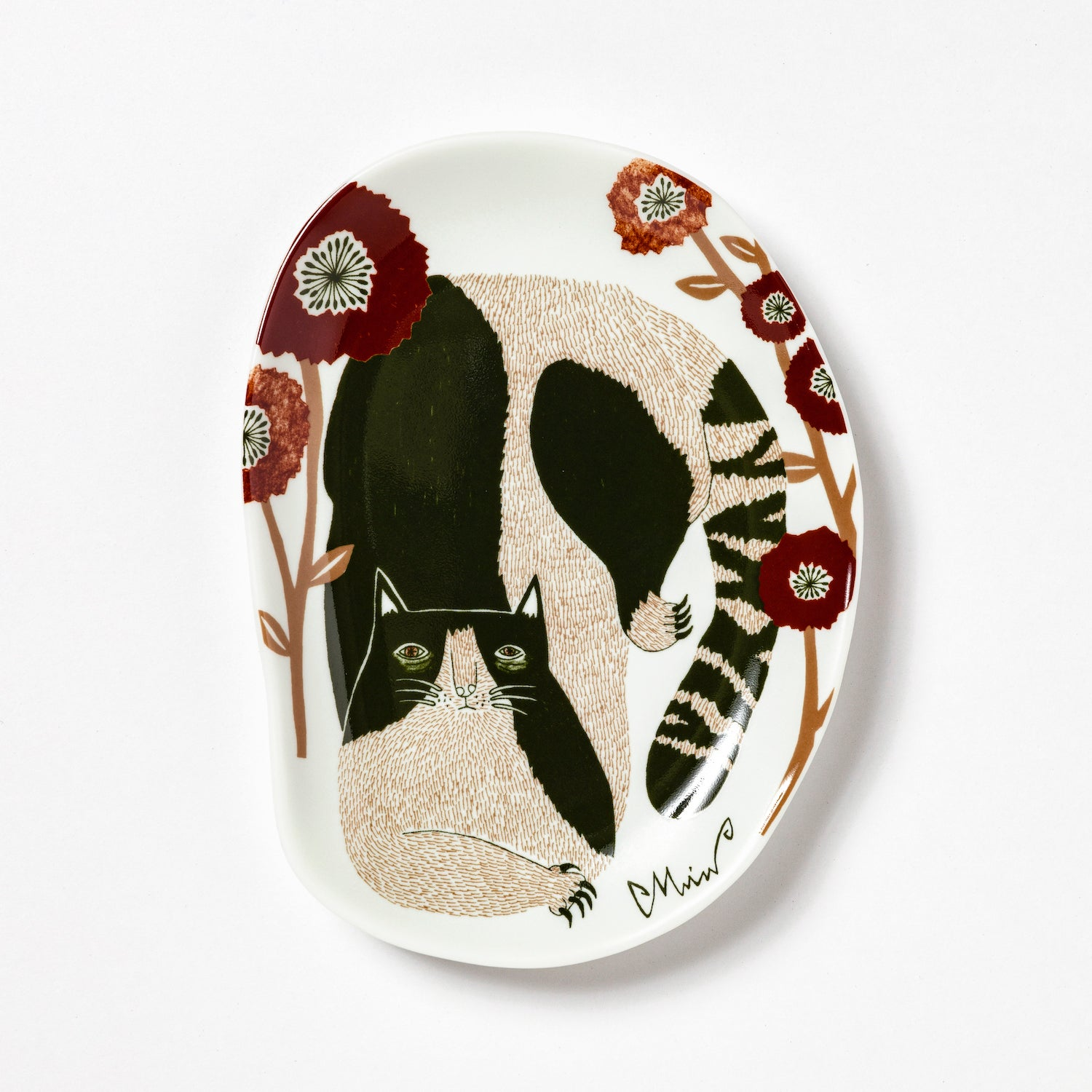 森田Miw 插畫瓷碟 - 貓*Morita Miw Decorative Plate - Cat
