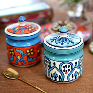 印度手繪調味料罐 Indian Hand-painted Condiment Jar