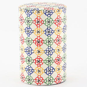 和紙茶罐 - Color Flori Washi Tea Canister - Color Flori