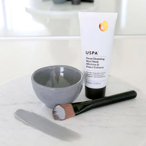 USPA Deep cleansing mud mask therapy 澳洲 USPA 草本深層淨化面膜泥