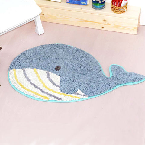 可愛鯨魚造型地毯 Lovely Whale Floor Mat