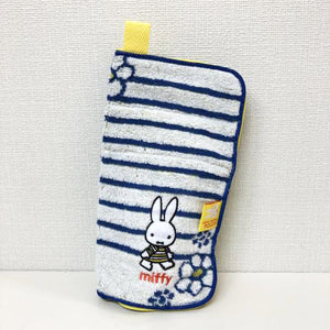 Miffy毛巾拉鍊袋 - 間條 Miffy Towel Zip Bag - Border