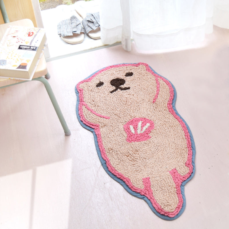 可愛海獺造型地毯 Lovely Sea Otter Floor Mat