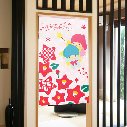 Little Twin Stars日本製門簾 Little Twin Stars Door Curtain