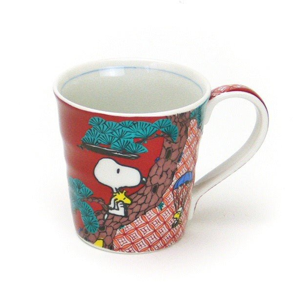 日本限定版九谷燒 Snoopy 陶瓷杯 Limited Edition Kutani Ware Snoopy Mug