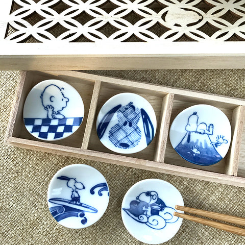 和風Snoopy筷子托架套裝 Wafu Snoopy Chopsticks Holder Set