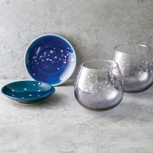 Twinkle 星河玻璃杯及小碟套裝 Twinkle Galaxy Water Glass Set